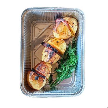 Картопля на мангалі